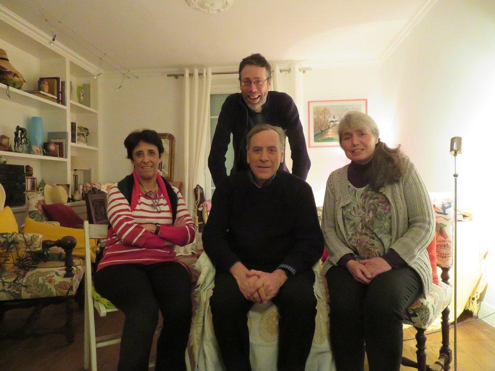 Liste Pour Fontenay: Suzanne Bourdet (Gauche), Michel Faye (assis au milieu).