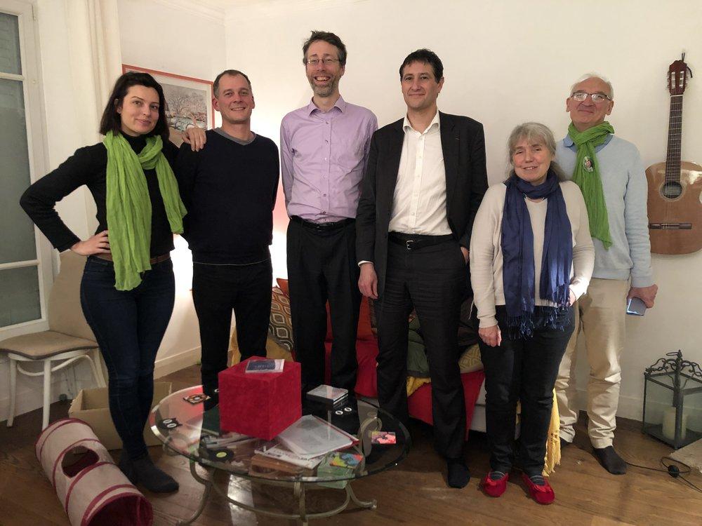 Liste Un temps d'avance pour Fontenay: Léa-Iris Poggi, Antoine Thill, Gilles Mergy, Jean-Yves Sommier.
